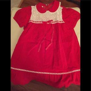Vintage WInnie the Pooh Sears Dress 6X Velveteen
